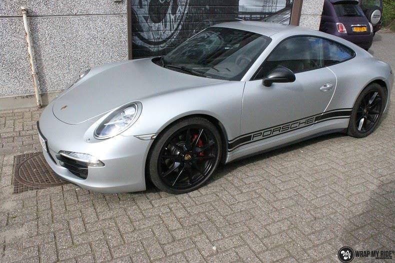Porsche 997 Satin White Aluminium, Carwrapping door Wrapmyride.nu Foto-nr:9673, ©2018