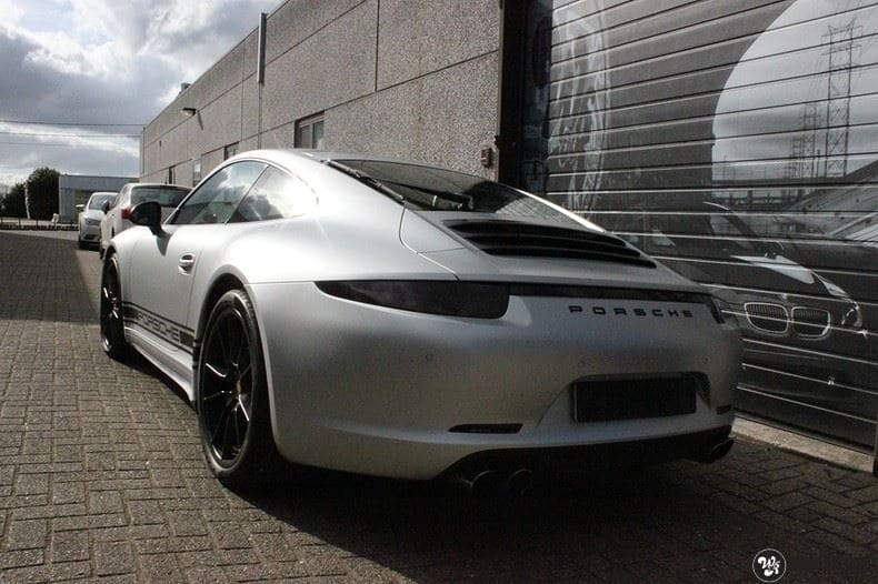 Porsche 997 Satin White Aluminium, Carwrapping door Wrapmyride.nu Foto-nr:9672, ©2018