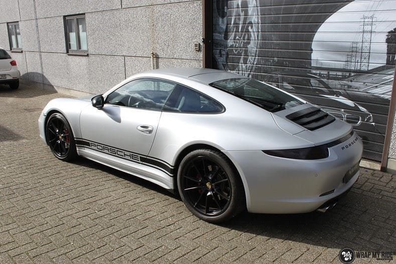 Porsche 997 Satin White Aluminium, Carwrapping door Wrapmyride.nu Foto-nr:9669, ©2020
