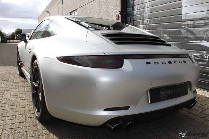 Porsche 997 Satin White Aluminium, Carwrapping door Wrapmyride.nu Foto-nr:9668, ©2018
