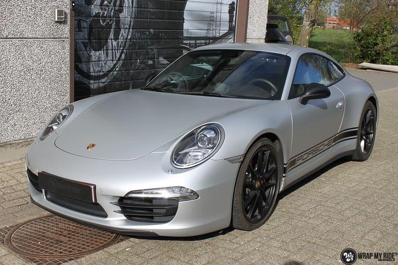 Porsche 997 Satin White Aluminium, Carwrapping door Wrapmyride.nu Foto-nr:9666, ©2020