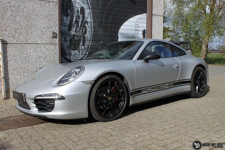 Porsche 997 Satin White Aluminium, Carwrapping door Wrapmyride.nu Foto-nr:9665, ©2020