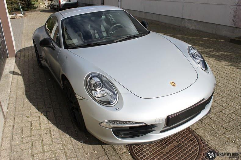 Porsche 997 Satin White Aluminium, Carwrapping door Wrapmyride.nu Foto-nr:9659, ©2018