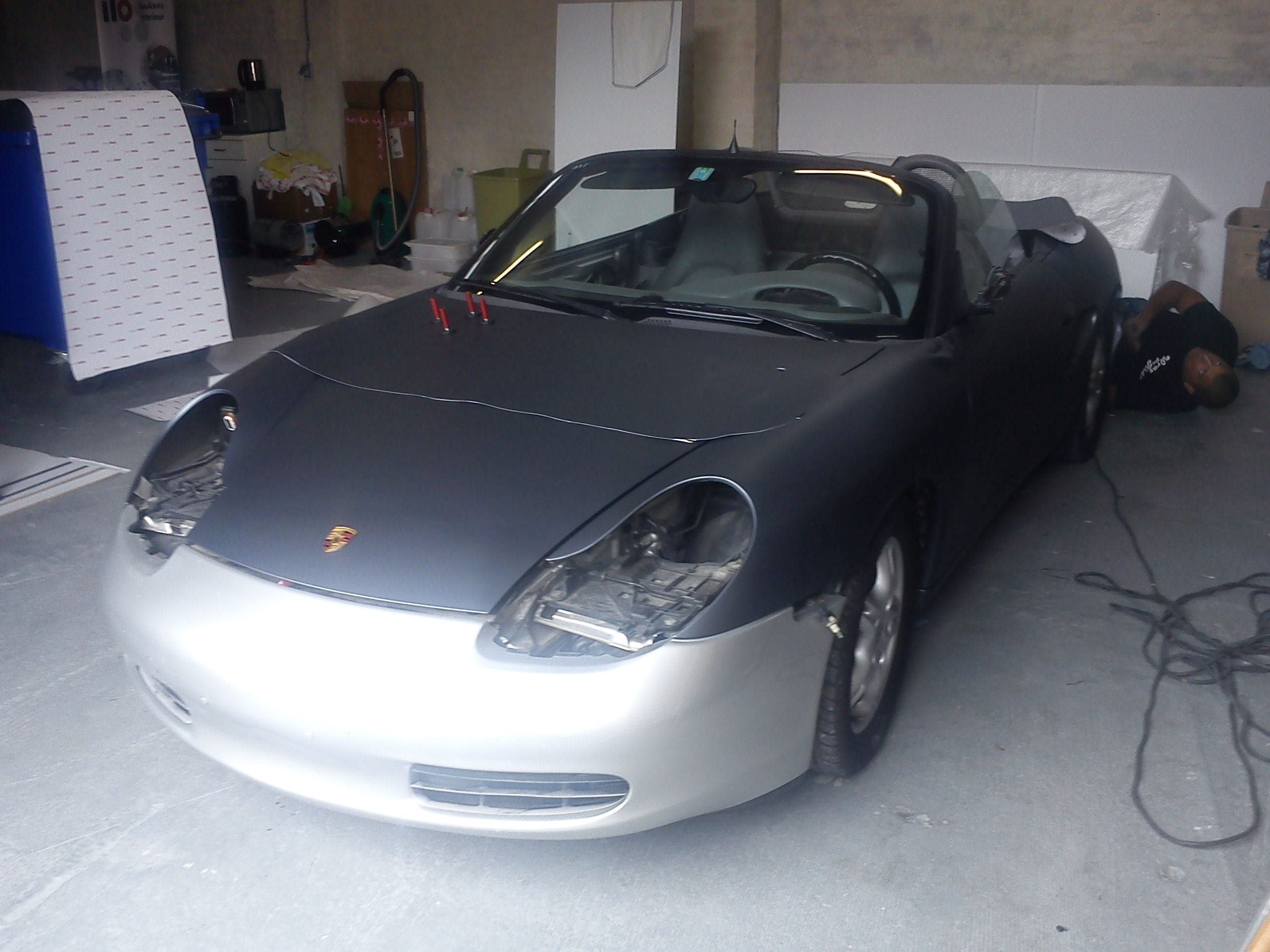 Porsche Boxter met Gunpowder Wrap, Carwrapping door Wrapmyride.nu Foto-nr:6721, ©2020