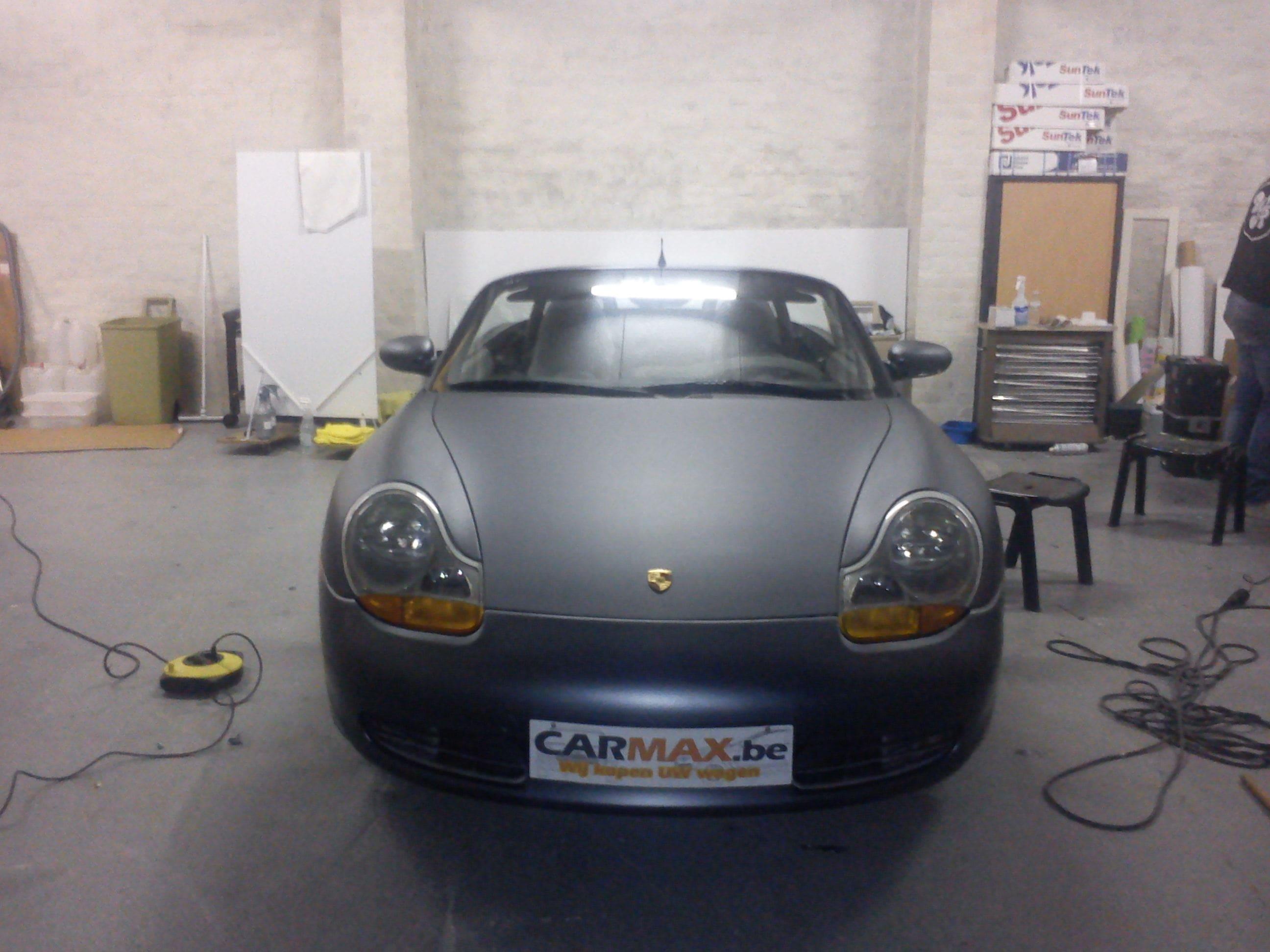 Porsche Boxter met Gunpowder Wrap, Carwrapping door Wrapmyride.nu Foto-nr:6723, ©2020