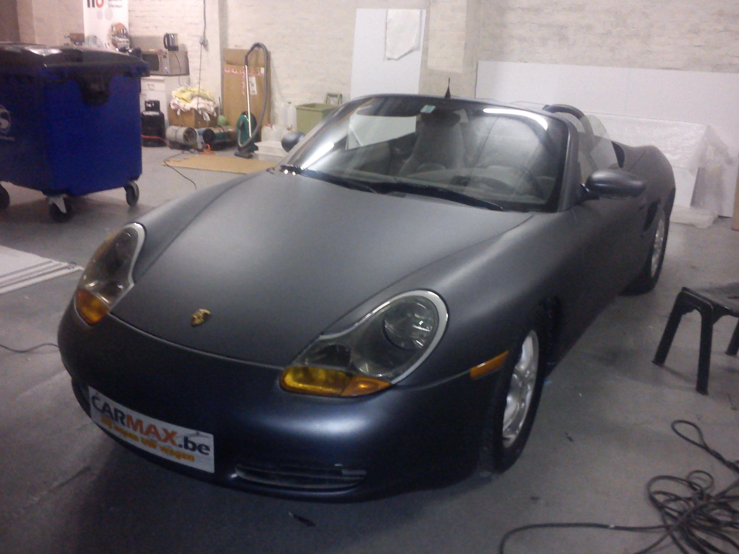 Porsche Boxter met Gunpowder Wrap, Carwrapping door Wrapmyride.nu Foto-nr:6724, ©2020
