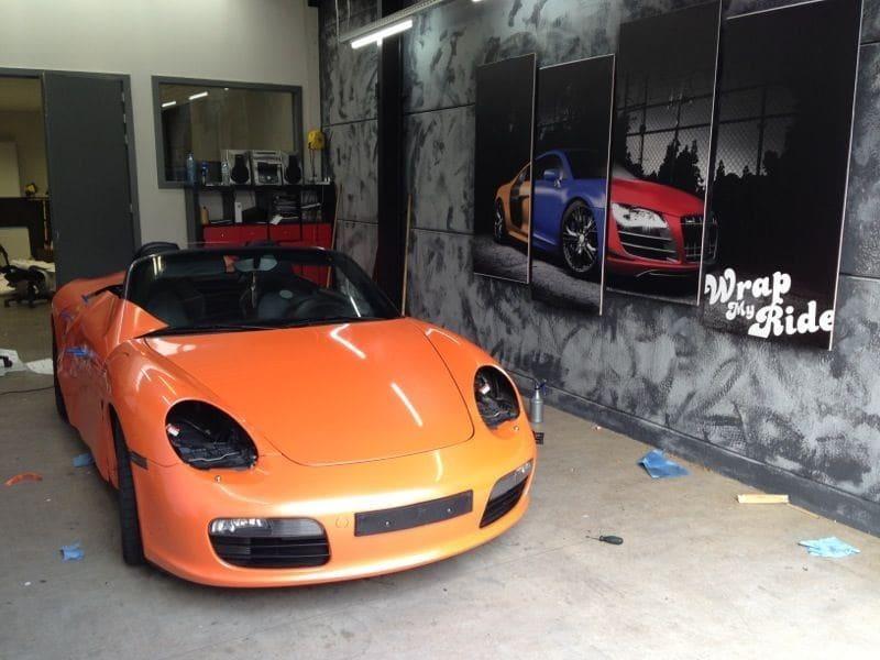 Porsche Boxter met Pearl Orange Wrap, Carwrapping door Wrapmyride.nu Foto-nr:6705, ©2021