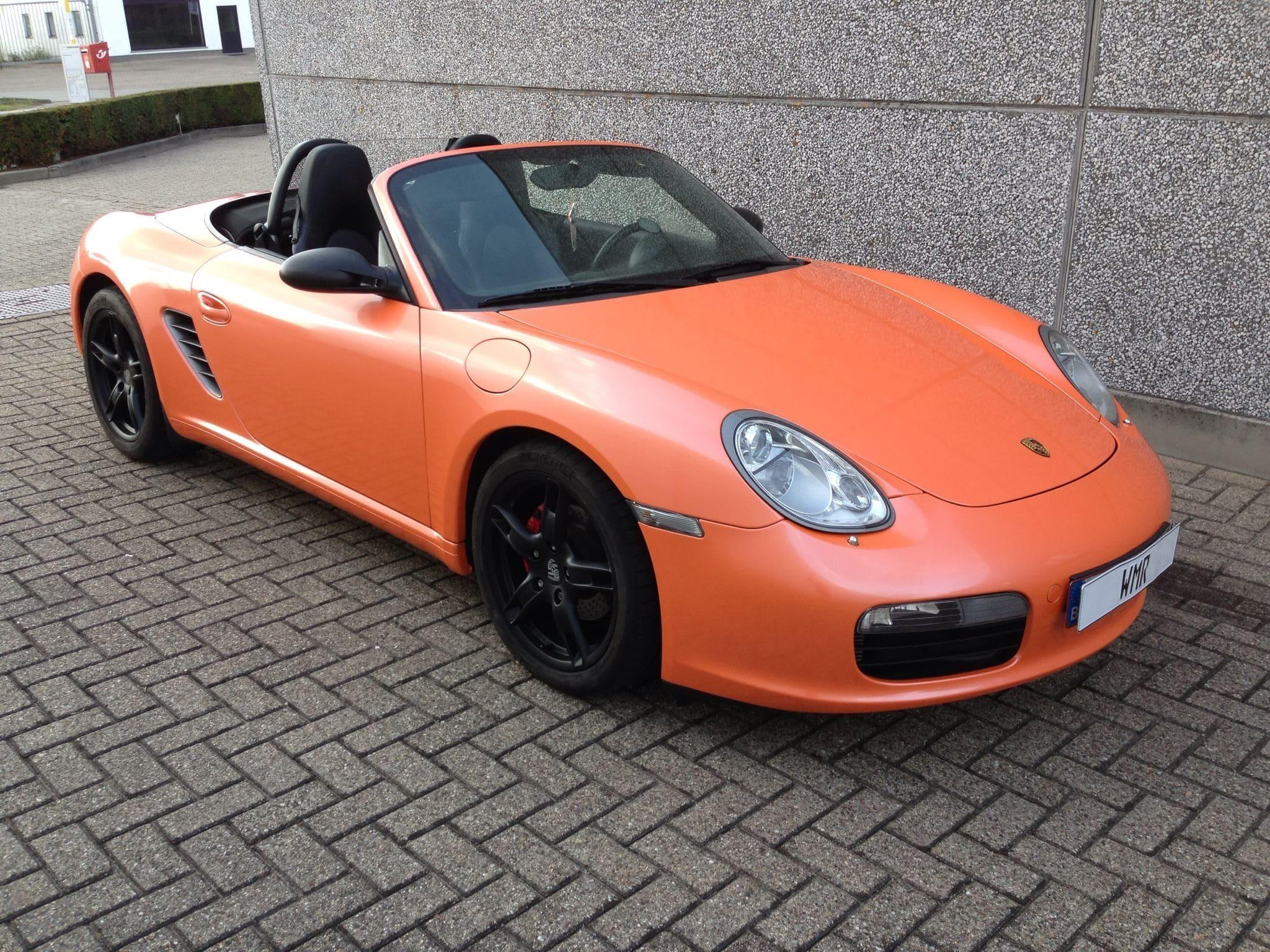 Porsche Boxter met Pearl Orange Wrap, Carwrapping door Wrapmyride.nu Foto-nr:6706, ©2021