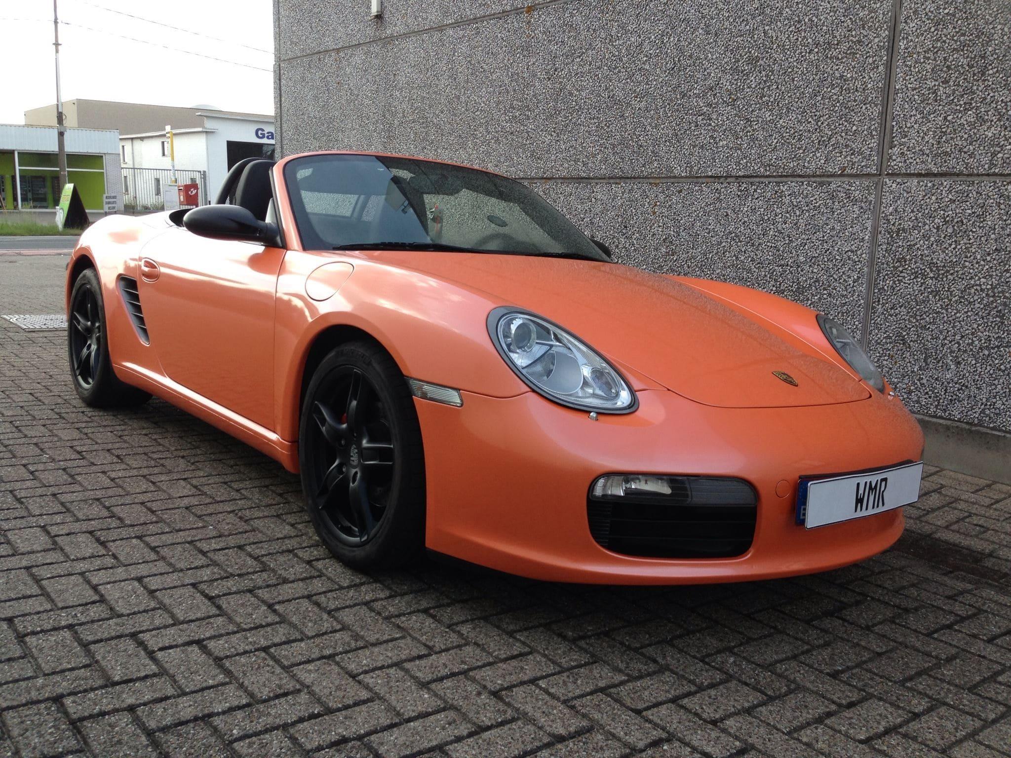 Porsche Boxter met Pearl Orange Wrap, Carwrapping door Wrapmyride.nu Foto-nr:6707, ©2020