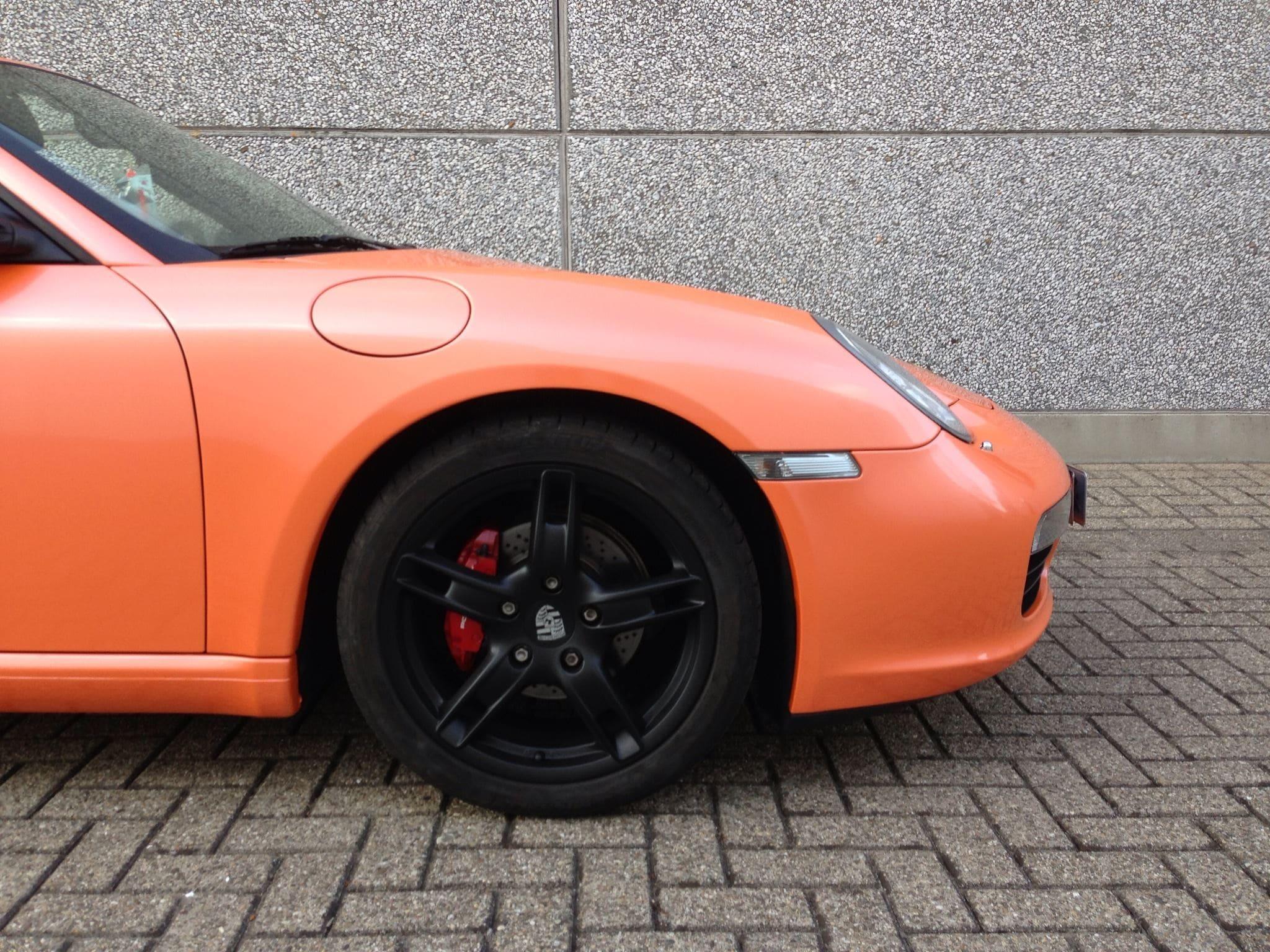 Porsche Boxter met Pearl Orange Wrap, Carwrapping door Wrapmyride.nu Foto-nr:6708, ©2021