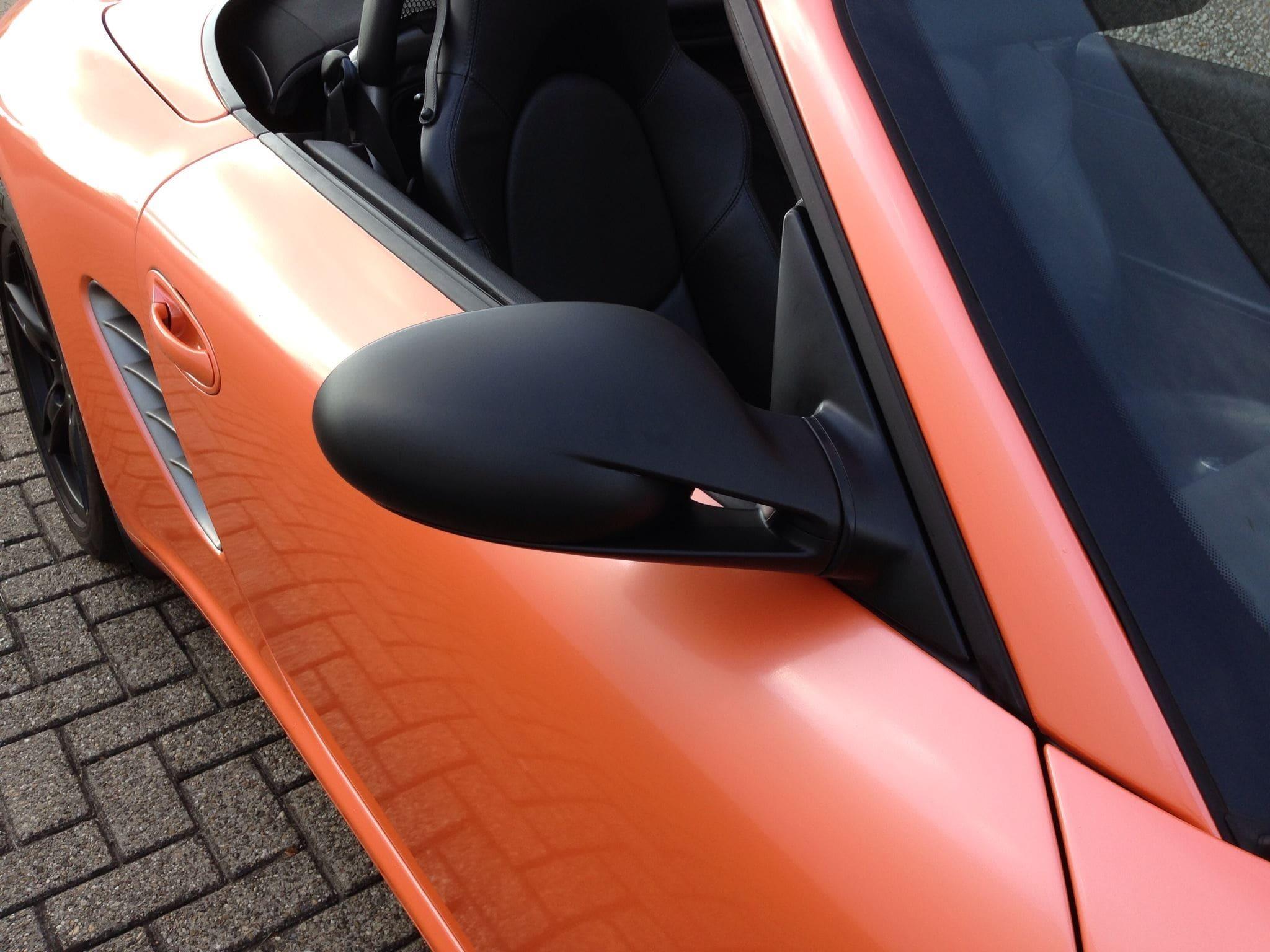 Porsche Boxter met Pearl Orange Wrap, Carwrapping door Wrapmyride.nu Foto-nr:6709, ©2020