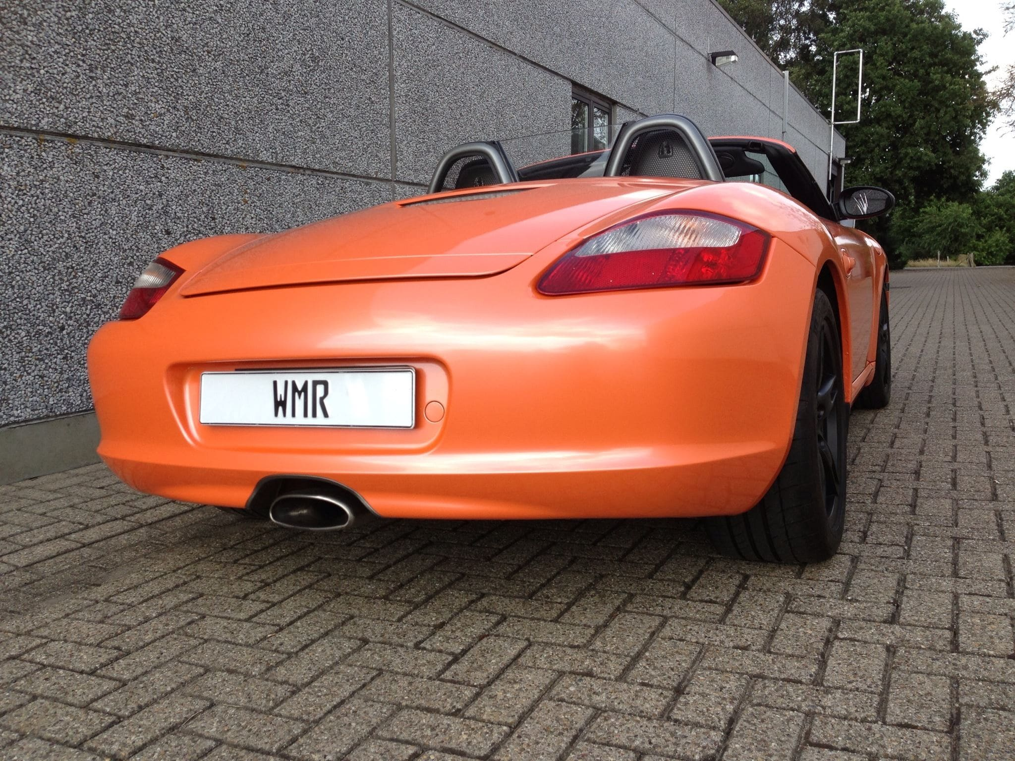 Porsche Boxter met Pearl Orange Wrap, Carwrapping door Wrapmyride.nu Foto-nr:6714, ©2021