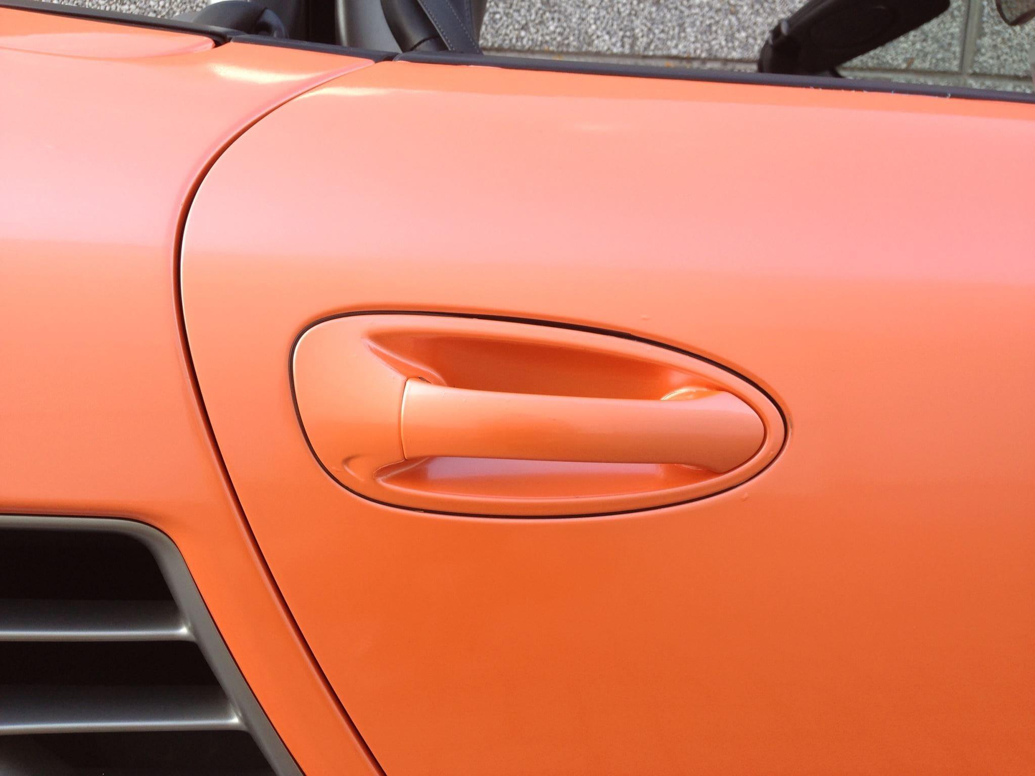 Porsche Boxter met Pearl Orange Wrap, Carwrapping door Wrapmyride.nu Foto-nr:6716, ©2021