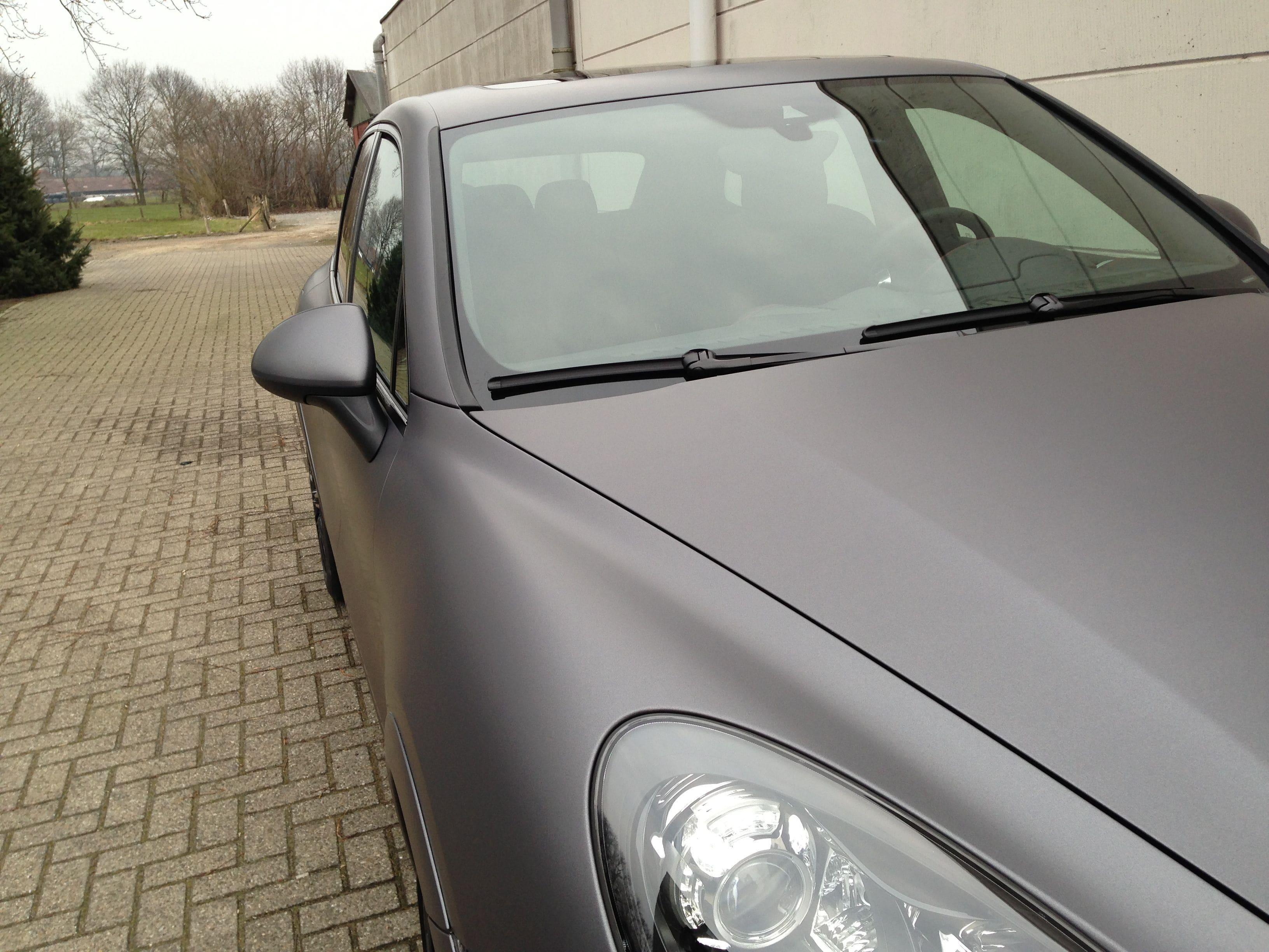 Porsche Cayenne GTS met Gunpowder Wrap, Carwrapping door Wrapmyride.nu Foto-nr:6769, ©2021