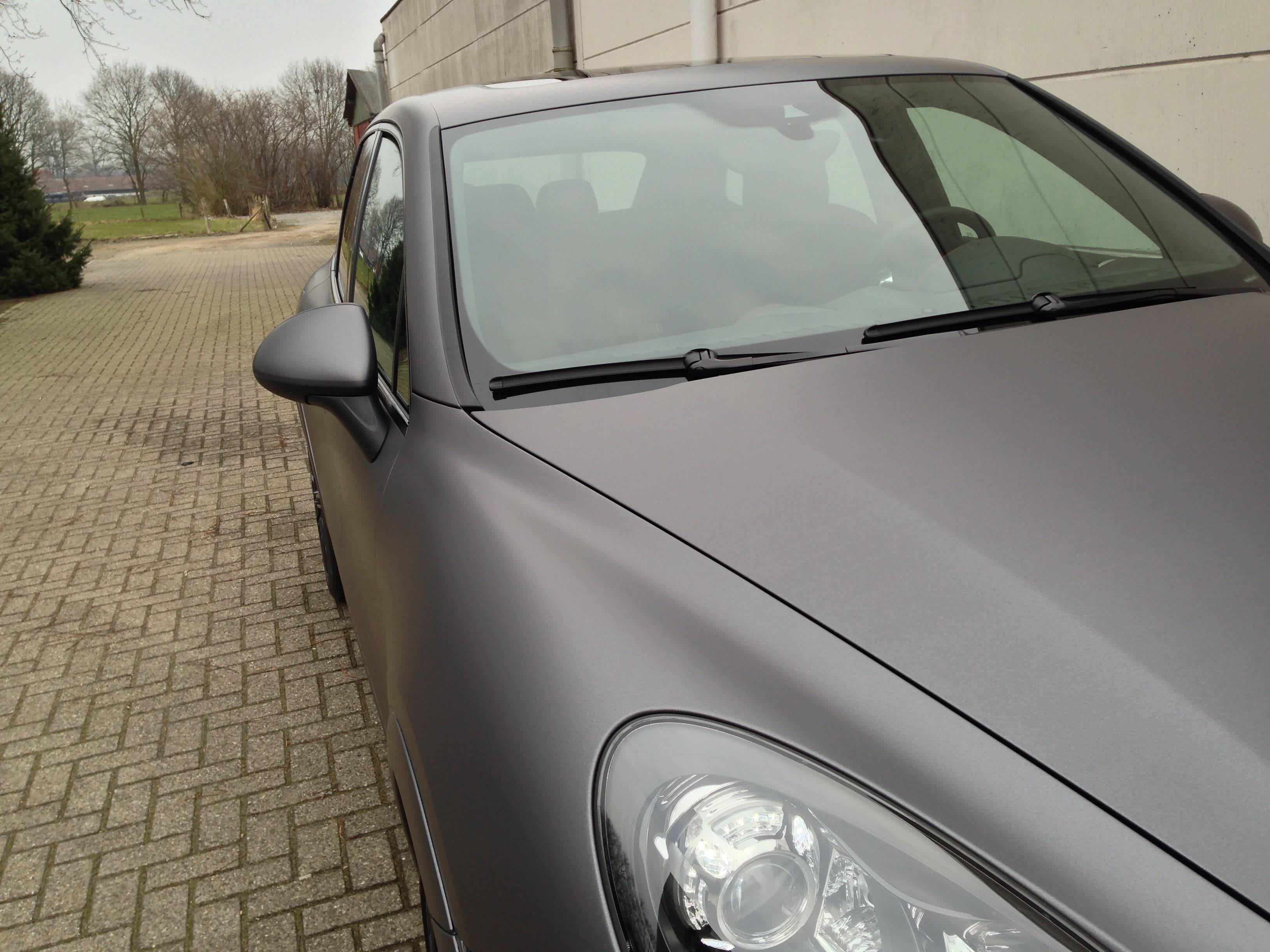 Porsche Cayenne GTS met Gunpowder Wrap, Carwrapping door Wrapmyride.nu Foto-nr:6770, ©2020