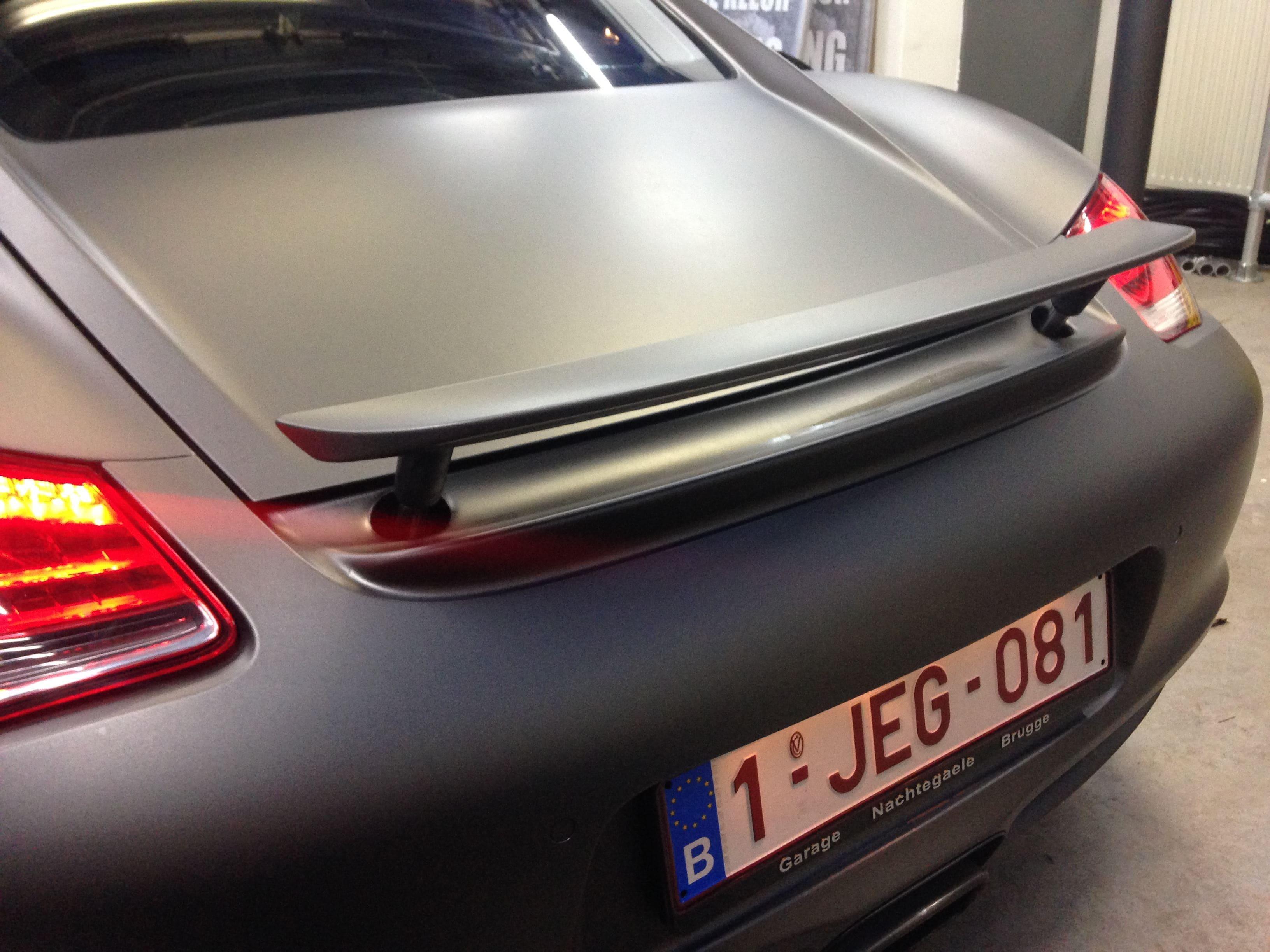 Porsche Cayman met Mat Charcoal Matte Wrap, Carwrapping door Wrapmyride.nu Foto-nr:7098, ©2021