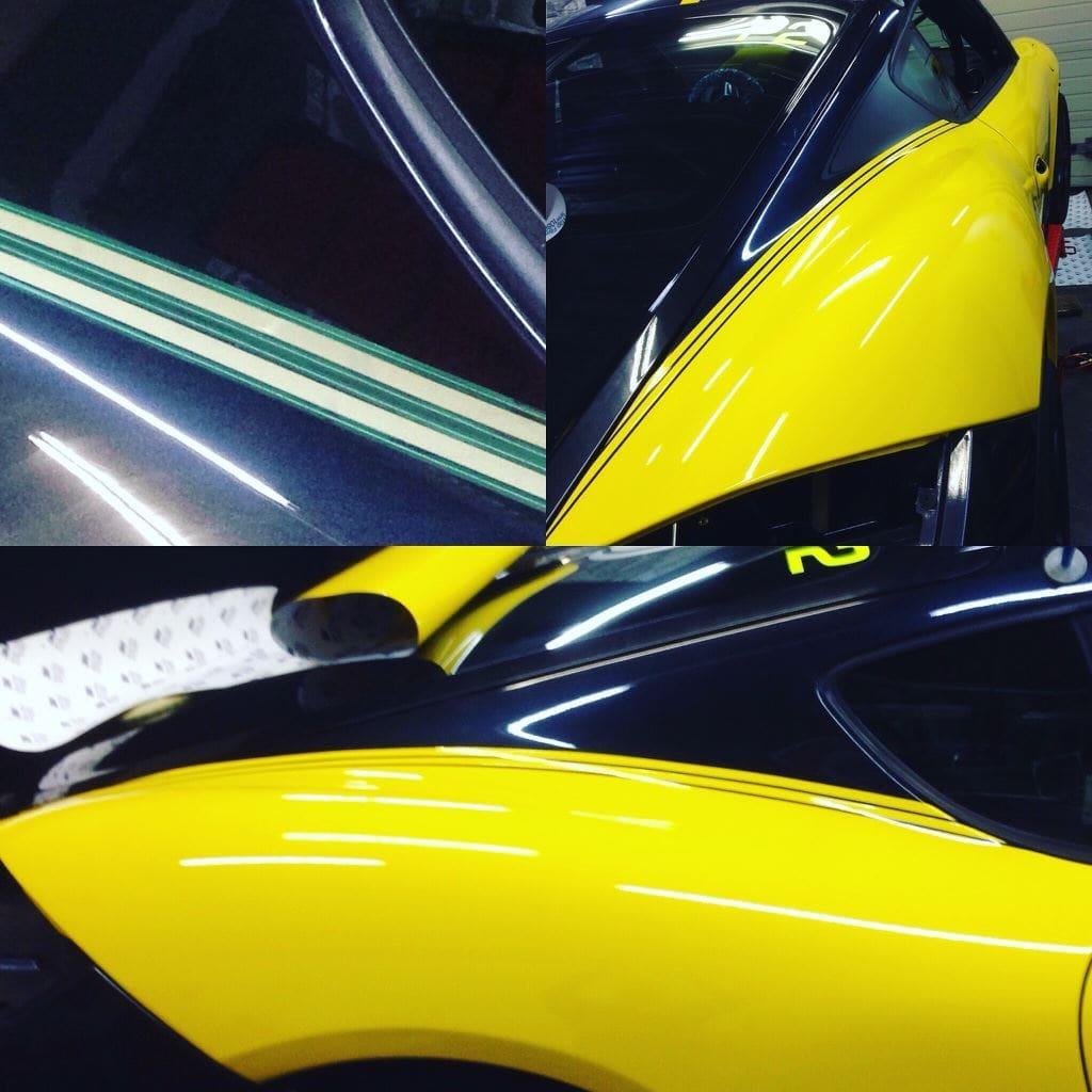 Porsche Cayman Yellow, Carwrapping door Wrapmyride.nu Foto-nr:8846, ©2021