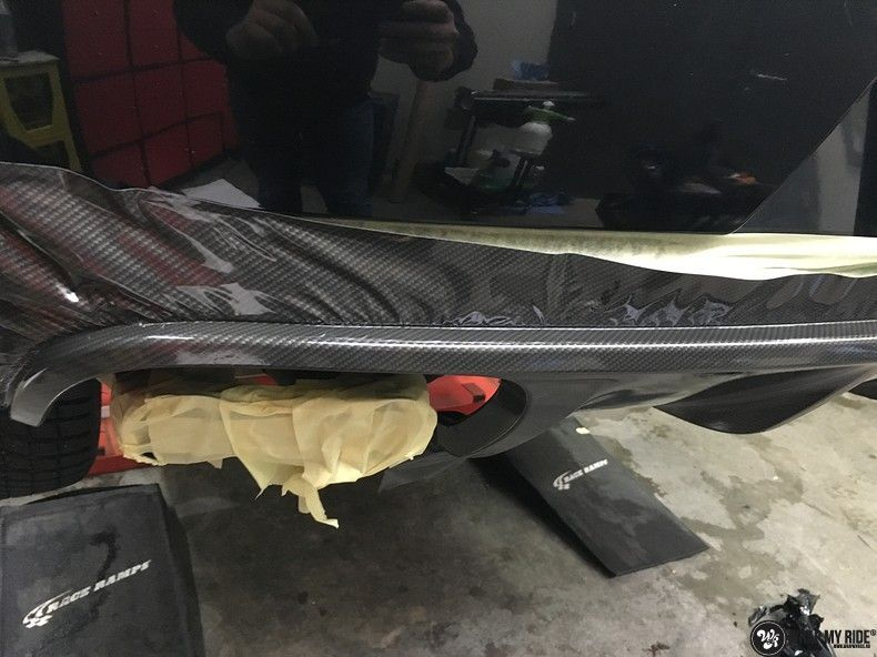 Porsche Macan Carbon accenten, Carwrapping door Wrapmyride.nu Foto-nr:10831, ©2020