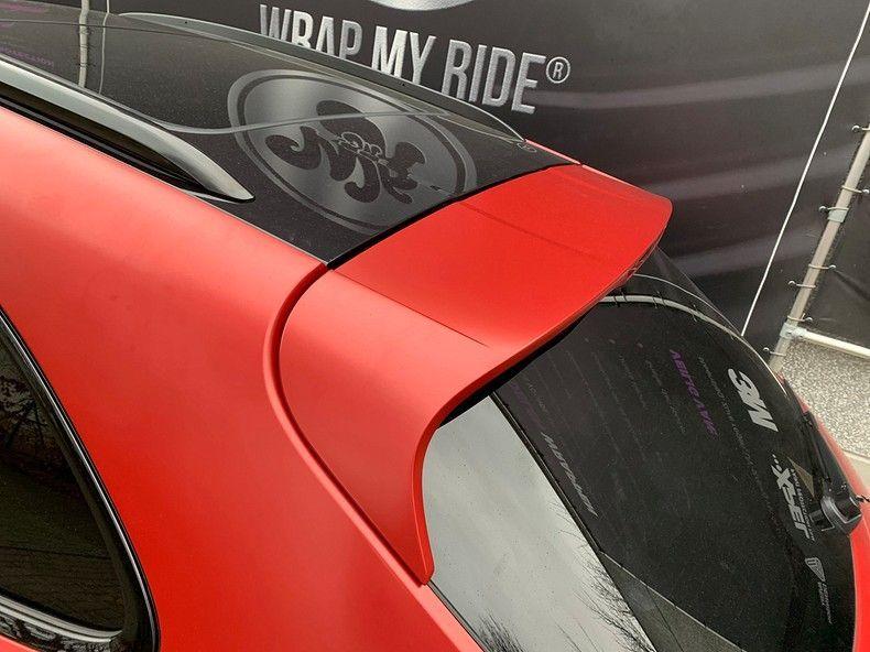 Porsche Macan Satin Vampire Red, Carwrapping door Wrapmyride.nu Foto-nr:12499, ©2019