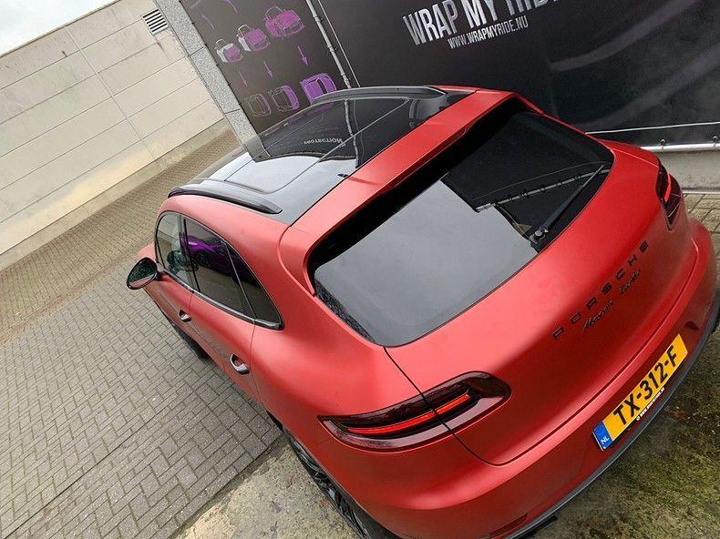 Porsche Macan Satin Vampire Red, Carwrapping door Wrapmyride.nu Foto-nr:12492, ©2019