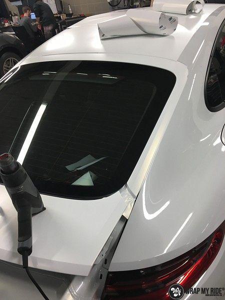 Porsche Panamera 4S Satin Frozen Vanilla, Carwrapping door Wrapmyride.nu Foto-nr:10551, ©2018