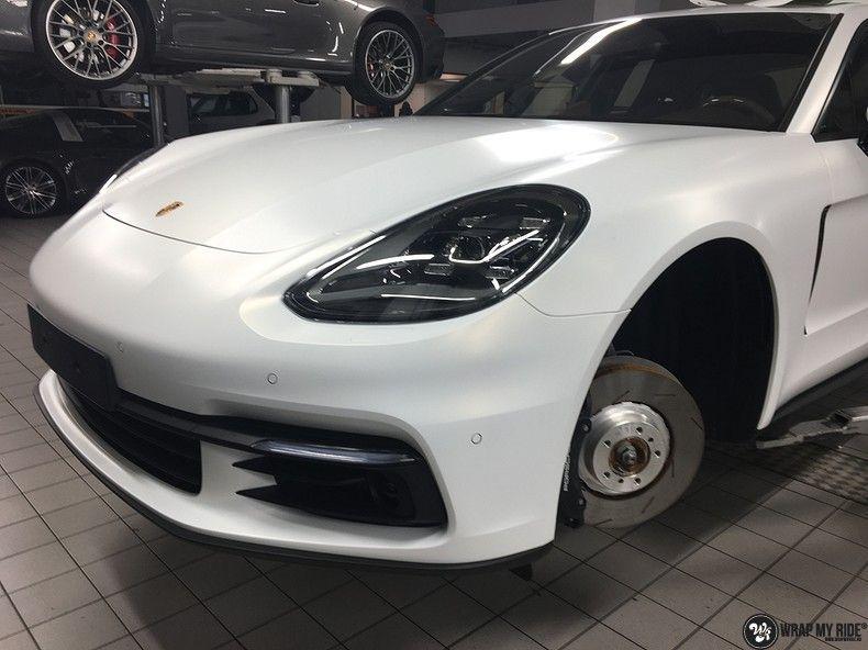 Porsche Panamera 4S Satin Frozen Vanilla, Carwrapping door Wrapmyride.nu Foto-nr:10542, ©2018