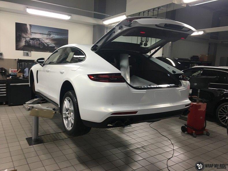 Porsche Panamera 4S Satin Frozen Vanilla, Carwrapping door Wrapmyride.nu Foto-nr:10535, ©2020
