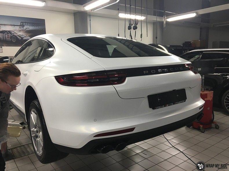 Porsche Panamera 4S Satin Frozen Vanilla, Carwrapping door Wrapmyride.nu Foto-nr:10533, ©2018