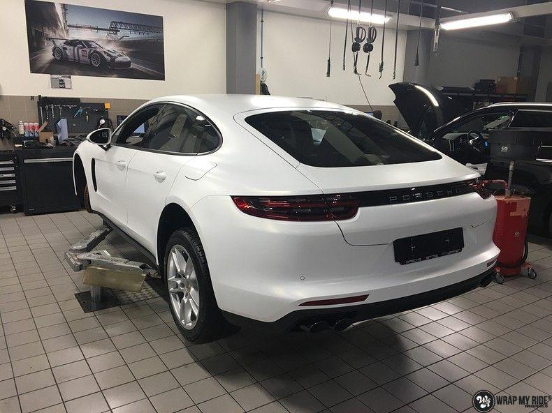 Porsche Panamera 4S Satin Frozen Vanilla, Carwrapping door Wrapmyride.nu Foto-nr:10532, ©2018