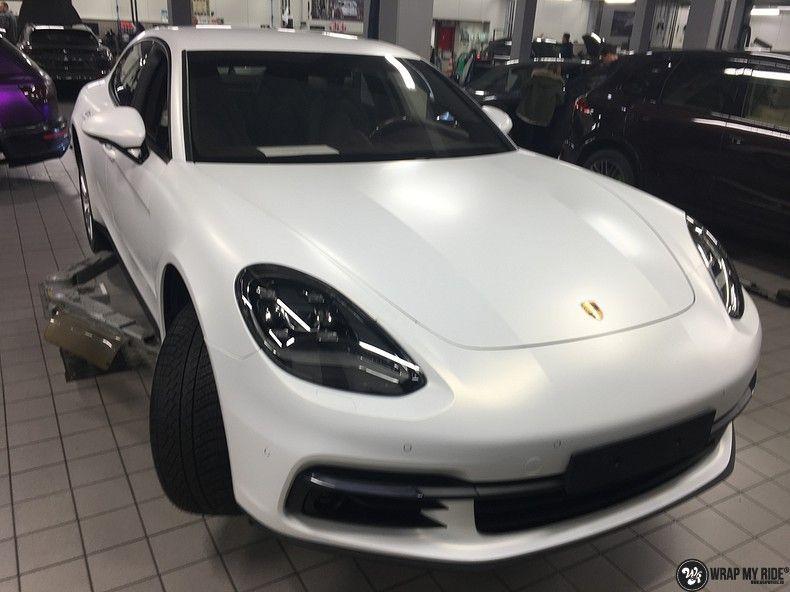 Porsche Panamera 4S Satin Frozen Vanilla, Carwrapping door Wrapmyride.nu Foto-nr:10529, ©2018