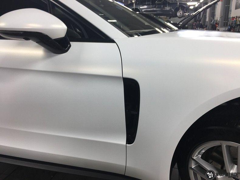 Porsche Panamera 4S Satin Frozen Vanilla, Carwrapping door Wrapmyride.nu Foto-nr:10525, ©2018