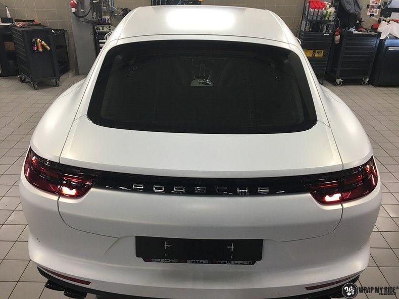 Porsche Panamera 4S Satin Frozen Vanilla, Carwrapping door Wrapmyride.nu Foto-nr:10519, ©2018