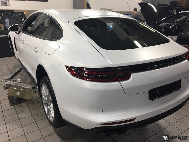 Porsche Panamera 4S Satin Frozen Vanilla, Carwrapping door Wrapmyride.nu Foto-nr:10518, ©2018