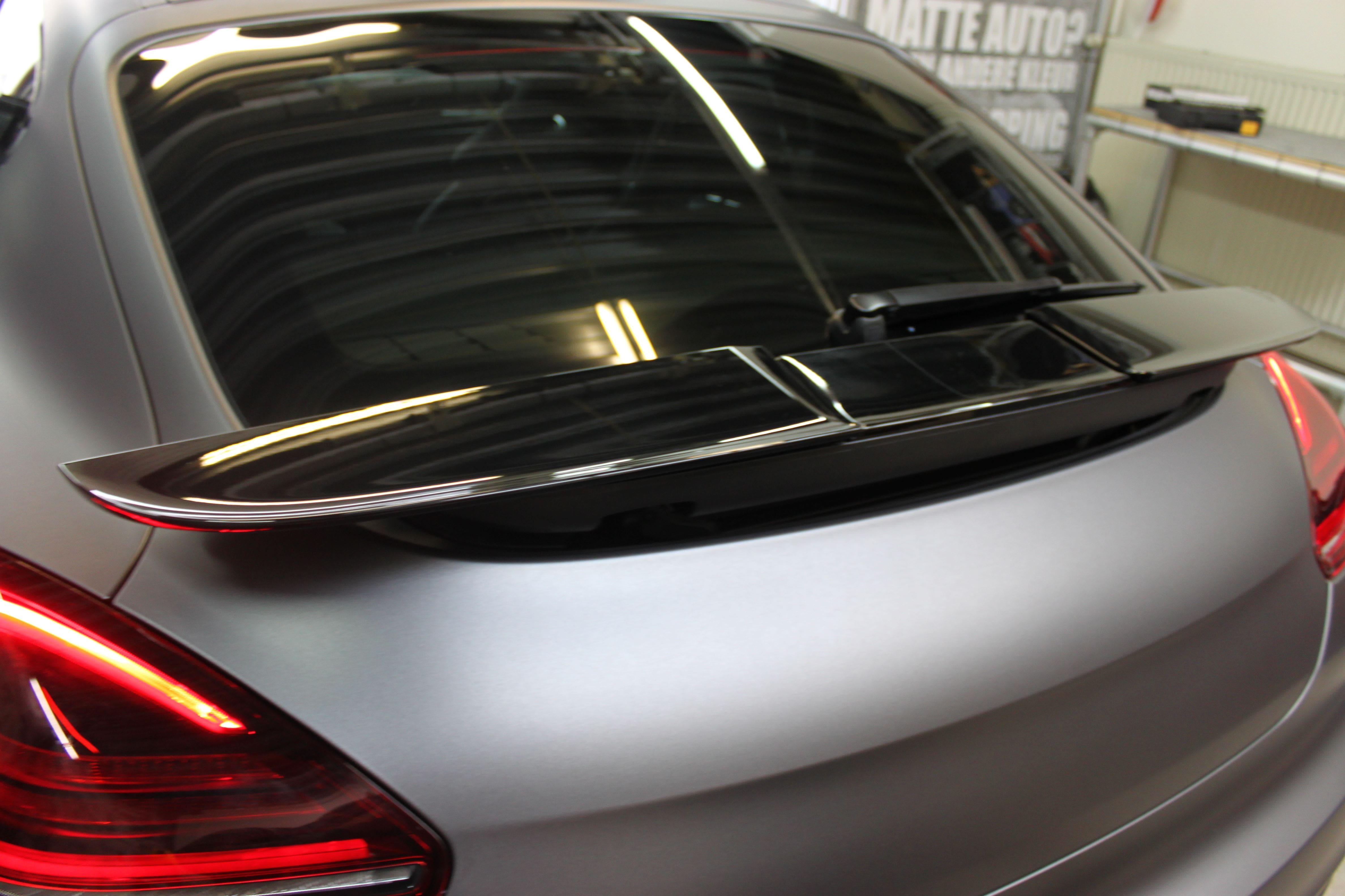 Porsche Panamera GTS Full Wrap in Gunpowder, Carwrapping door Wrapmyride.nu Foto-nr:7113, ©2021