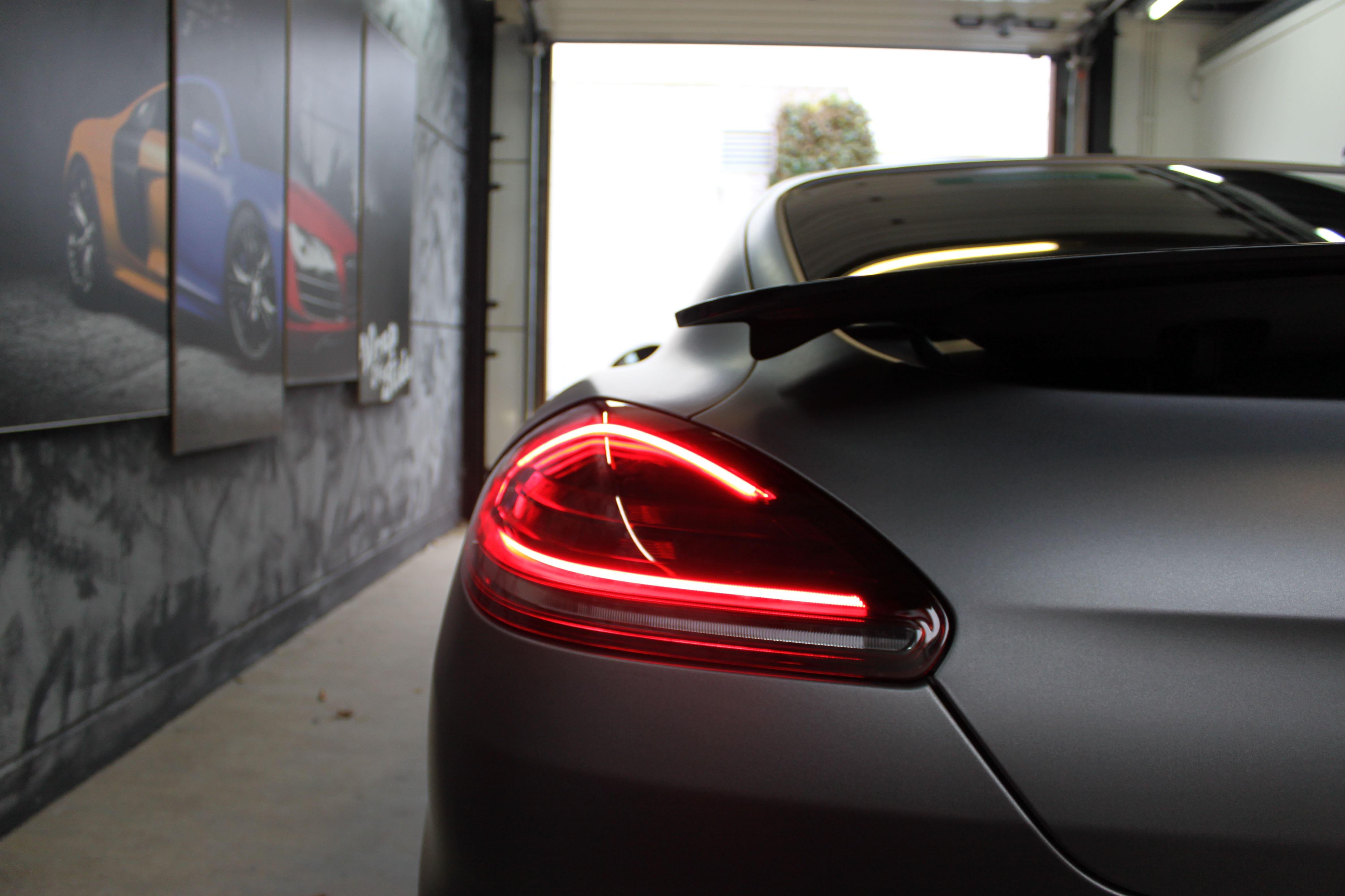Porsche Panamera GTS Full Wrap in Gunpowder, Carwrapping door Wrapmyride.nu Foto-nr:7118, ©2021