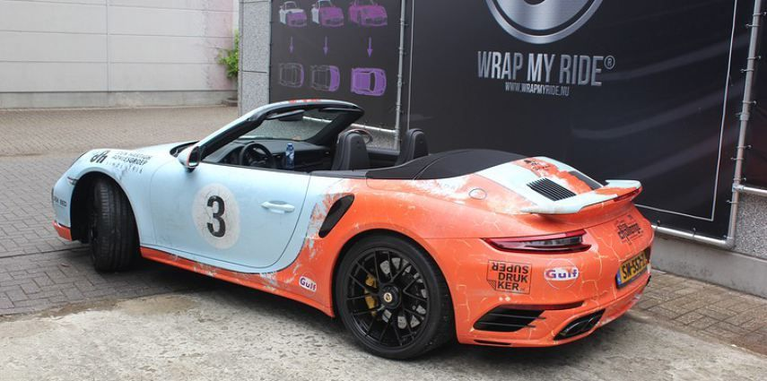 Porsche turbo S gulf weathered Livery