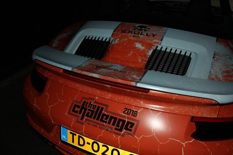Porsche turbo S gulf weathered Livery, Carwrapping door Wrapmyride.nu Foto-nr:12078, ©2019