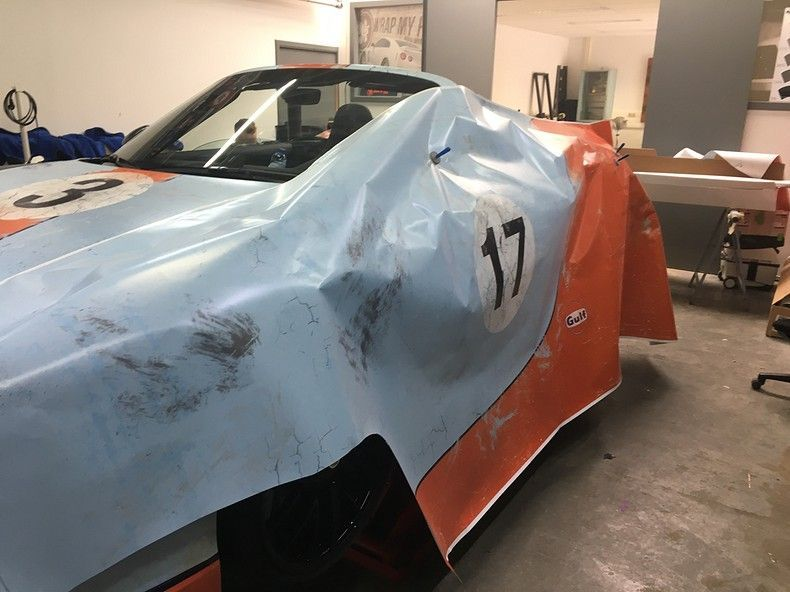 Porsche turbo S gulf weathered Livery, Carwrapping door Wrapmyride.nu Foto-nr:12165, ©2019