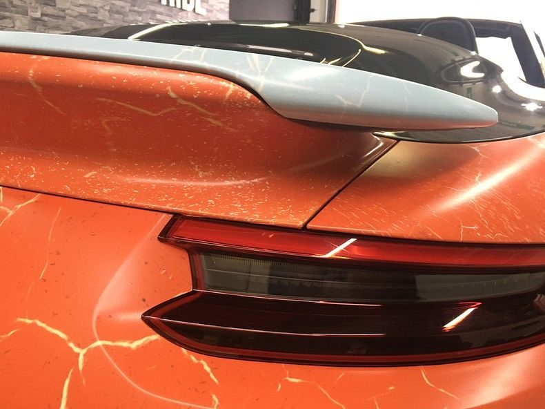 Porsche turbo S gulf weathered Livery, Carwrapping door Wrapmyride.nu Foto-nr:12089, ©2019