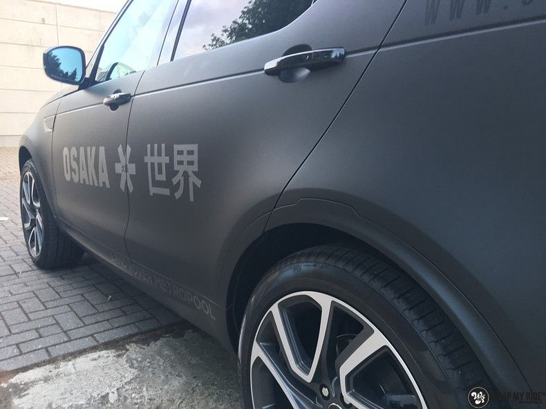 Range Rover Discovery 2018 Osaka, Carwrapping door Wrapmyride.nu Foto-nr:11422, ©2018