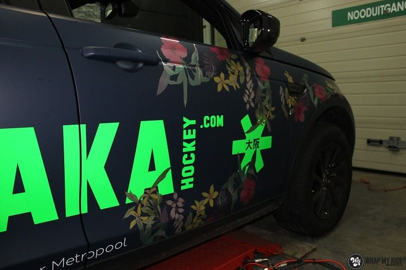 Range Rover Discovery Flower, Carwrapping door Wrapmyride.nu Foto-nr:8787, ©2020