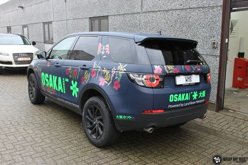 Range Rover Discovery Flower, Carwrapping door Wrapmyride.nu Foto-nr:8781, ©2020