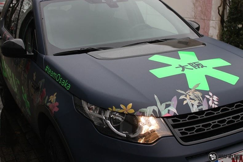 Range Rover Discovery Flower, Carwrapping door Wrapmyride.nu Foto-nr:8778, ©2021