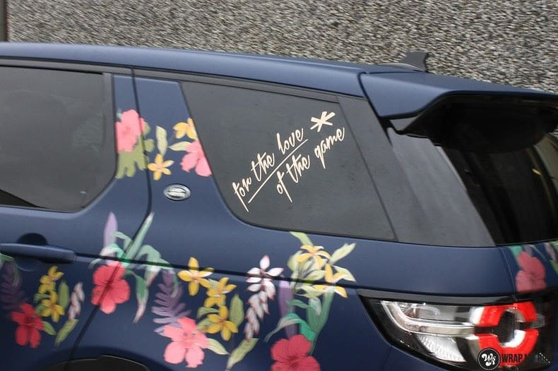 Range Rover Discovery Flower, Carwrapping door Wrapmyride.nu Foto-nr:8776, ©2020