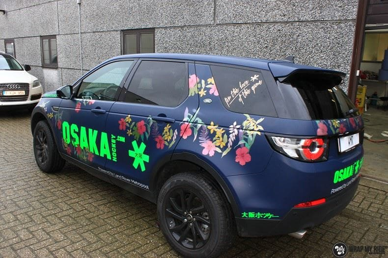 Range Rover Discovery Flower, Carwrapping door Wrapmyride.nu Foto-nr:8775, ©2020