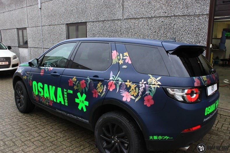 Range Rover Discovery Flower, Carwrapping door Wrapmyride.nu Foto-nr:8774, ©2020