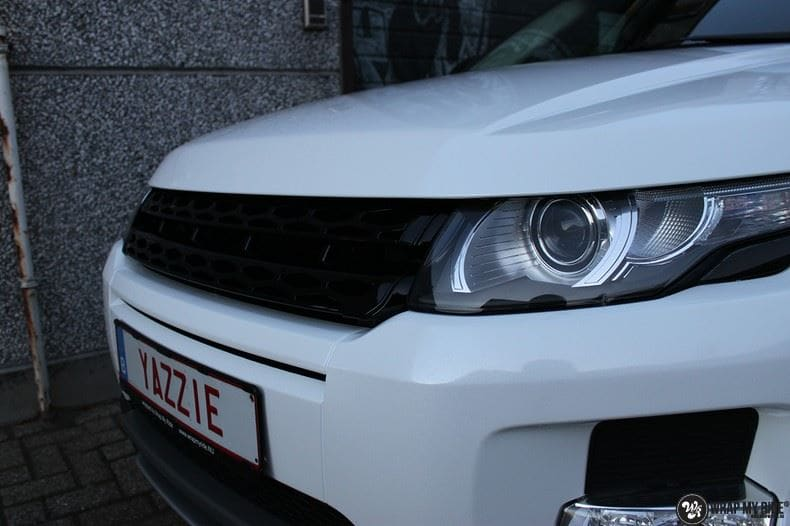 Range Rover Evoque Avery White Diamond, Carwrapping door Wrapmyride.nu Foto-nr:9823, ©2021