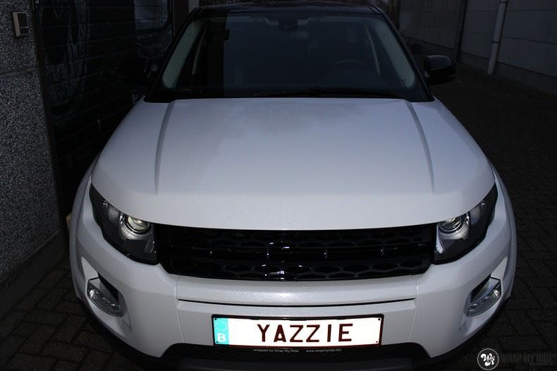 Range Rover Evoque Avery White Diamond, Carwrapping door Wrapmyride.nu Foto-nr:9820, ©2021