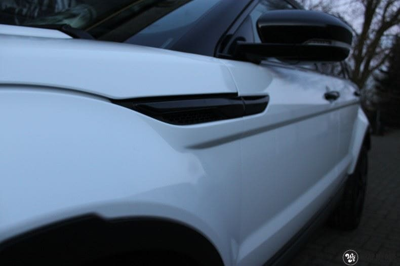Range Rover Evoque Avery White Diamond, Carwrapping door Wrapmyride.nu Foto-nr:9819, ©2021