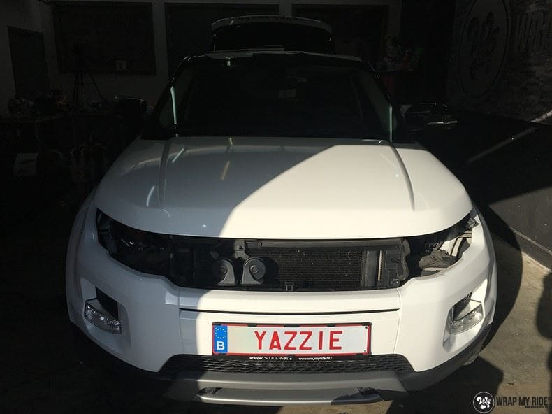 Range Rover Evoque Avery White Diamond, Carwrapping door Wrapmyride.nu Foto-nr:9829, ©2020